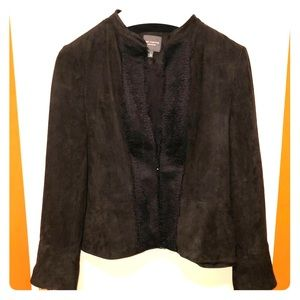 NWOT Faux Leather and Lace Jacket